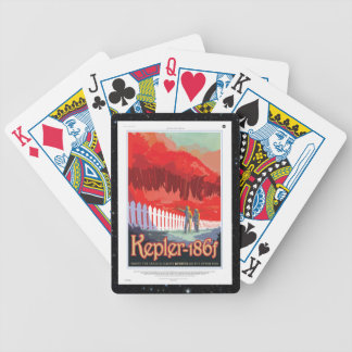 Kepler 186f Where the Grass is Alway Red vacation Bicycle Playing Cards