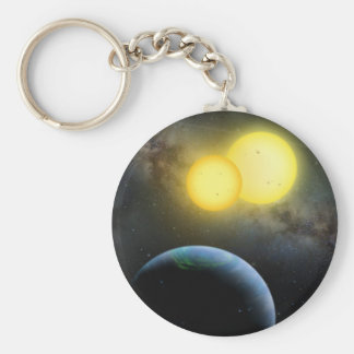 Kepler-35 Basic Round Button Key Ring