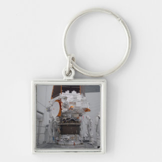 Kepler space telescope Silver-Colored square key ring