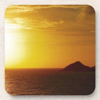 Keppel Bay sunrise drink coaster set