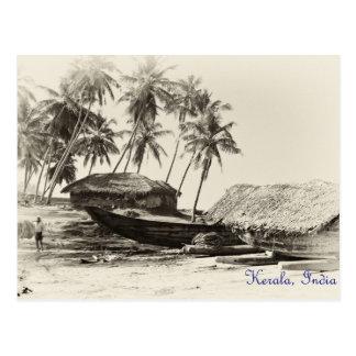 Kerala fishing village postcard