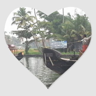 KERALA India RIVER Boats Stickers