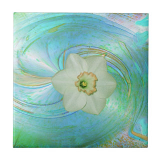 Keramik Fliese ``Ice Flower´´ Small Square Tile