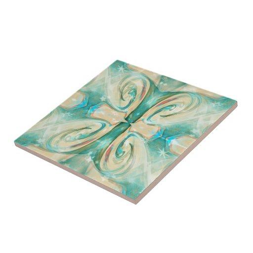 Keramik Fliese ``Polar Blume´´ Ceramic Tiles
