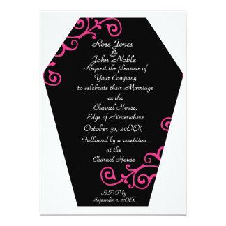Keranda Ebony (Magenta) Wedding Invitation
