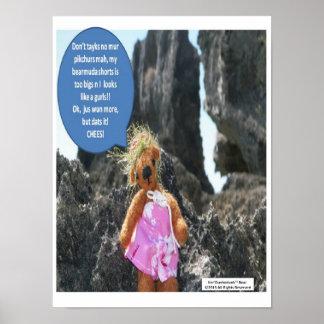 Ker'Dunkedunk Bear Vacation Poster