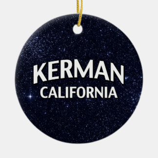 Kerman California Round Ceramic Decoration
