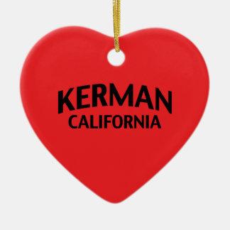 Kerman California Double-Sided Heart Ceramic Christmas Ornament