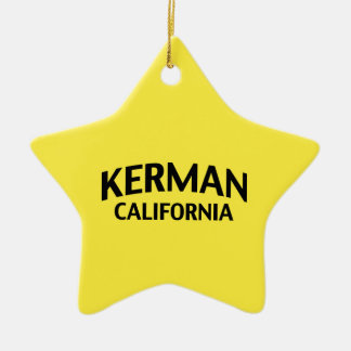 Kerman California Double-Sided Star Ceramic Christmas Ornament