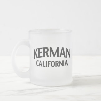 Kerman California Frosted Glass Mug