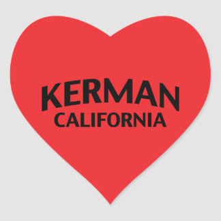 Kerman California Heart Sticker