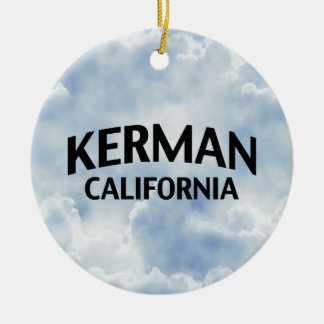 Kerman California Round Ceramic Decoration