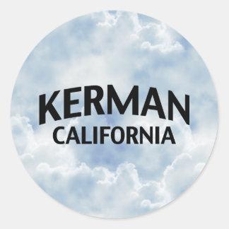 Kerman California Round Sticker