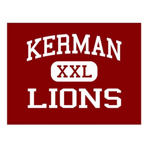 Kerman - Lions - High School - Kerman California Post Card