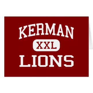 Kerman - Lions - Middle School - Kerman California Greeting Card