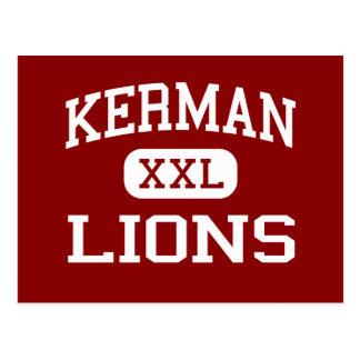 Kerman - Lions - Middle School - Kerman California Post Card