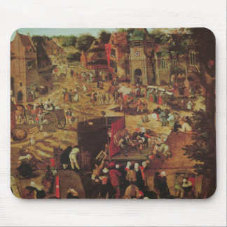 Kermesse with Theatre and Procession Mouse Mat
