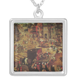 Kermesse with Theatre and Procession Silver Plated Necklace