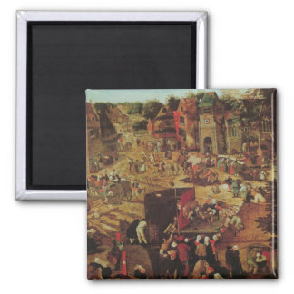 Kermesse with Theatre and Procession Square Magnet