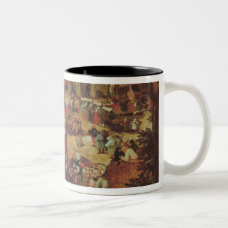 Kermesse with Theatre and Procession Two-Tone Coffee Mug