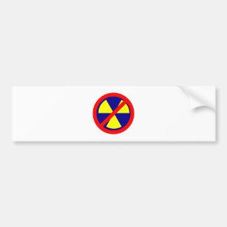 Kernkraft verboten no nuclear power auto sticker