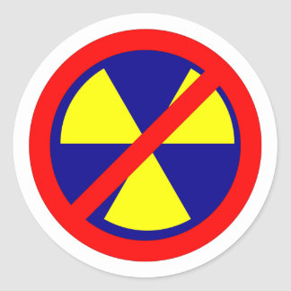 Kernkraft verboten no nuclear power runder aufkleber