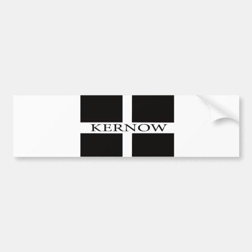 Kernow (Cornwall) flag Bumper Stickers