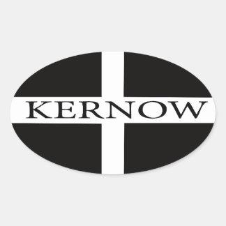 Kernow (Cornwall) flag Oval Sticker