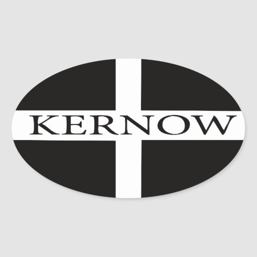Comwall Design Decals : Kernow (Cornwall) flag Oval Sticker  Zazzle