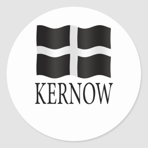 Comwall Design Decals : Kernow (Cornwall) flag Stickers  Zazzle