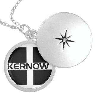 KERNOW FLAG ROUND LOCKET NECKLACE