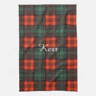 Kerr clan Plaid Scottish tartan Tea Towel