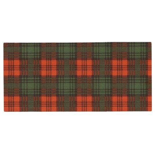 Kerr clan Plaid Scottish tartan Wood USB Flash