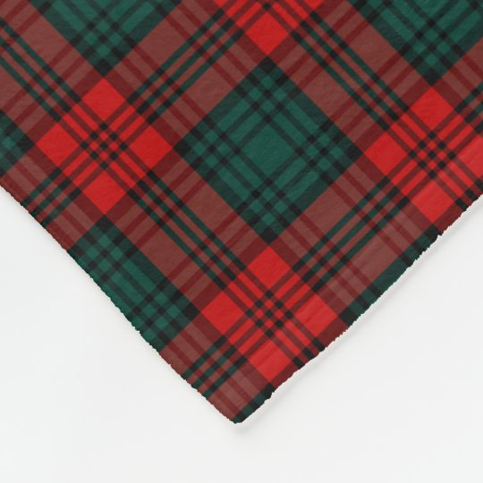 Kerr Clan Red and Forest Green Tartan Fleece