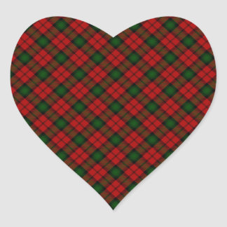 Kerr Scottish Clan Tartan Design Heart Sticker