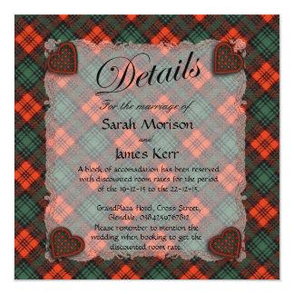 Kerr Scottish clan tartan - Plaid 5.25x5.25 Square Paper Invitation Card