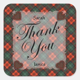 Kerr Scottish clan tartan - Plaid Sticker