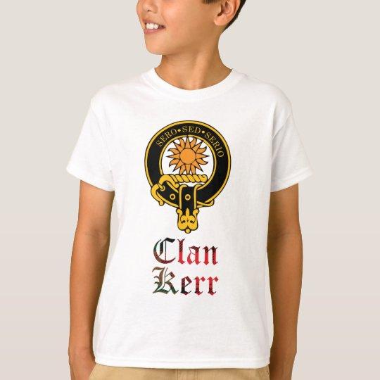 Kerr scottish crest and tartan clan name T-Shirt