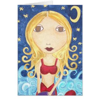 Kerri Ambrosino Art Card Mermaid Ocean
