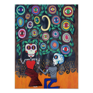 Kerri Ambrosino Art Poster Day of The Dead