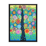 Kerri Ambrosino Mexican Folk Art Tree of Life Stretched Canvas Prints