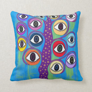 Kerri Ambrosino Pillow Art Evil Eye Tree of Life