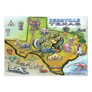 Kerrville TEXAS Map Card 13 Cm X 18 Cm Invitation Card