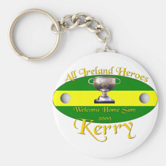 Kerry All Ireland Champions Basic Round Button Key Ring