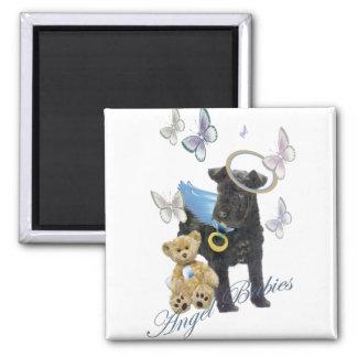 Kerry Blue Terrier Angel Baby Fridge Magnets