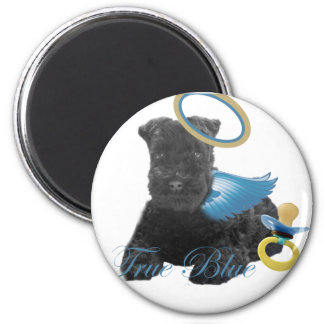 Kerry Blue Terrier Angel Baby Magnets