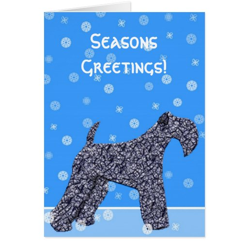 Kerry Blue Terrier Christmas Card