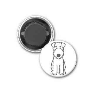 Kerry Blue Terrier Dog Cartoon Refrigerator Magnets