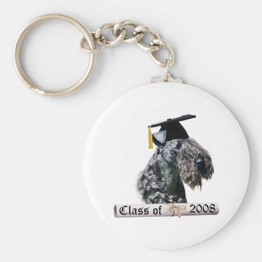 Kerry Blue Terrier Grad08 Basic Round Button Key Ring