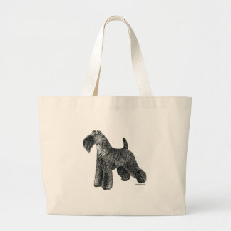 Kerry Blue Terrier Large Tote Bag